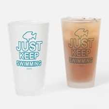 Just Keep Swimming Drinking Glass