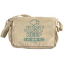 Just Keep Swimming Messenger Bag