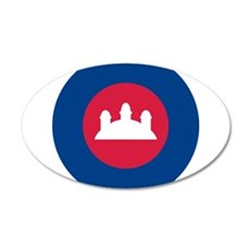 Cambodia Roundel 20x12 Oval Wall Decal