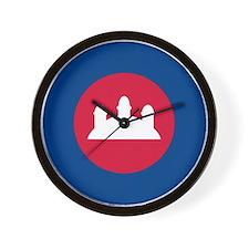 Cambodia Roundel Wall Clock
