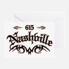 Nashville 615 Greeting Card