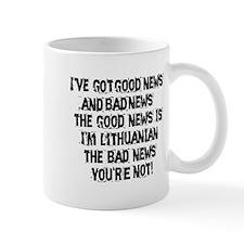 Good News and Bad News Lithuanian Mug