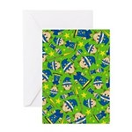 Halloween Wizard Patterned Greeting Card