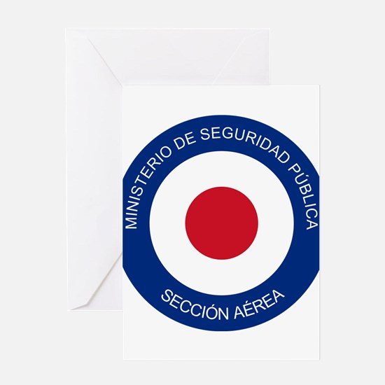 Costa Rica Roundel Greeting Card