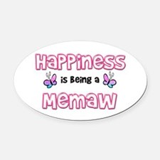 Unique Happiness being grandmother Oval Car Magnet