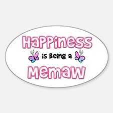 Cute Happiness being Sticker (Oval)