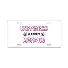 Funny Nana butterfly Aluminum License Plate