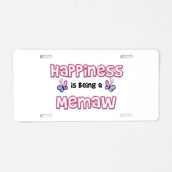 Cute Memaw Aluminum License Plate