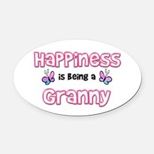 Cool Happiness being grandmother Oval Car Magnet