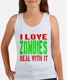 I Love Zombies Deal With It Women's Tank Top