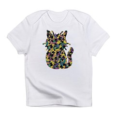 Colorful Paisley Kitty Infant T-Shirt