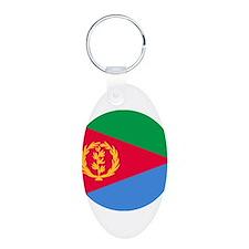 Eritrea Roundel Aluminum Oval Keychain