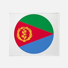 Eritrea Roundel Throw Blanket