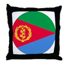 Eritrea Roundel Throw Pillow