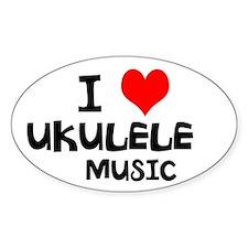 I Love Ukulele Music Decal