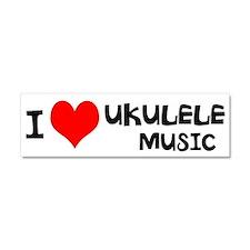 I Love Ukulele Music Car Magnet 10 x 3