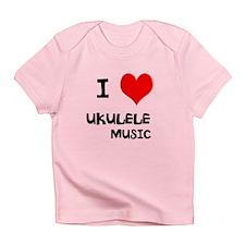 I Love Ukulele Music Infant T-Shirt