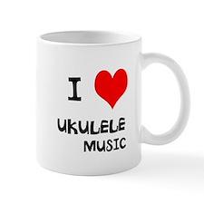 I Love Ukulele Music Mug