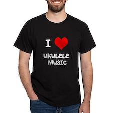 I Love Ukulele Music T-Shirt