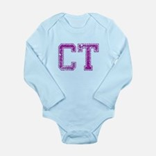 CT, Vintage Long Sleeve Infant Bodysuit