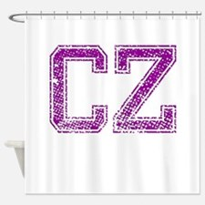 CZ, Vintage Shower Curtain