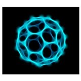 Buckyball Wrapped Canvas Art