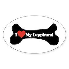 I Love My Lapphund - Dog Bone Decal