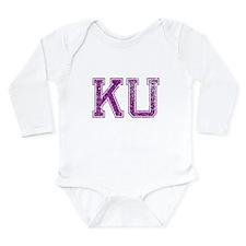 KU, Vintage Long Sleeve Infant Bodysuit