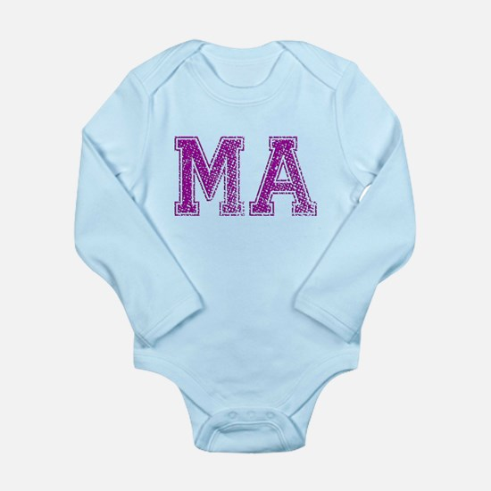 MA, Vintage Long Sleeve Infant Bodysuit