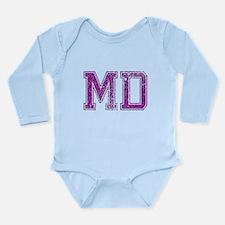 MD, Vintage Long Sleeve Infant Bodysuit