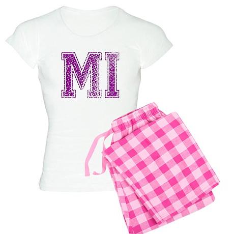 MI, Vintage Women's Light Pajamas