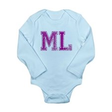 ML, Vintage Long Sleeve Infant Bodysuit