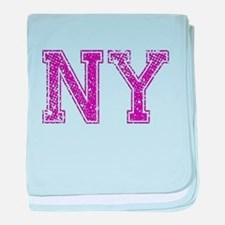 NY, Vintage baby blanket