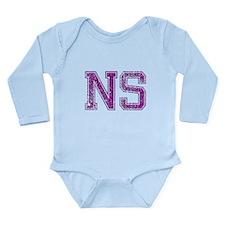 NS, Vintage Long Sleeve Infant Bodysuit