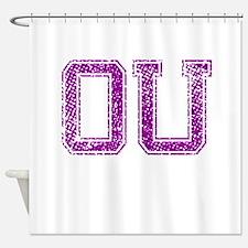 OU, Vintage Shower Curtain