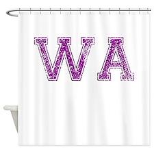 WA, Vintage Shower Curtain