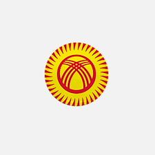Kyrgyzstan Roundel Mini Button