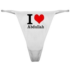 I Heart Abdullah Classic Thong
