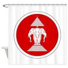 Laos Roundel Shower Curtain