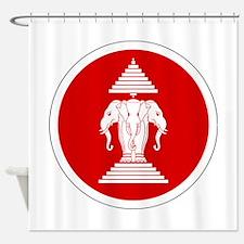 Laos Roundel Shower Curtain