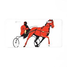 harness horse cart racing retro Aluminum License P