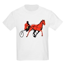 harness horse cart racing retro T-Shirt