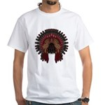 Native War Bonnet 06 White T-Shirt