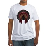 Native War Bonnet 06 Fitted T-Shirt