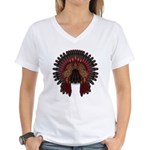 Native War Bonnet 06 Women's V-Neck T-Shirt