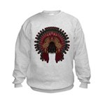 Native War Bonnet 06 Kids Sweatshirt