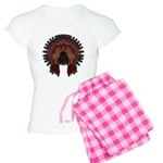 Native War Bonnet 06 Women's Light Pajamas