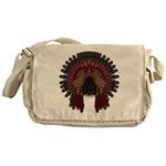 Native War Bonnet 06 Messenger Bag