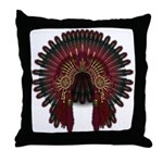Native War Bonnet 06 Throw Pillow