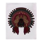 Native War Bonnet 06 Throw Blanket